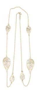 Tolle 80 cm Silberkette 925 vergoldet m. Dekorgliedern - lange Kette Silber Gold