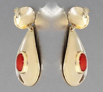 Ohrschmuck Gold 750 mit Koralle Ohrhänger Ohrstecker Ohrringe 18 Karat