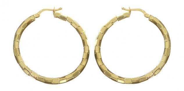 Creolen Gold 585 Ohrringe 14 Karat große 3, 6 cm Goldcreolen Ohrschmuck