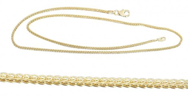 Goldkette 585 Halskette diamantgeschliffen 14 Karat Kette Gold massiv 42 cm