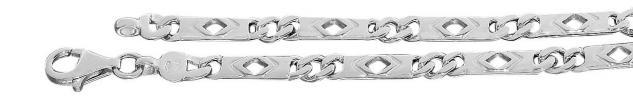 21 cm massives Silberarmband 925 rhodiniert Armband Armkette Silber 8, 6 gr.
