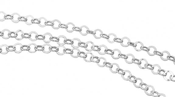 Silberkette 925 massiv Gliederkette rhodiniert Karabiner Halskette 45 50 cm