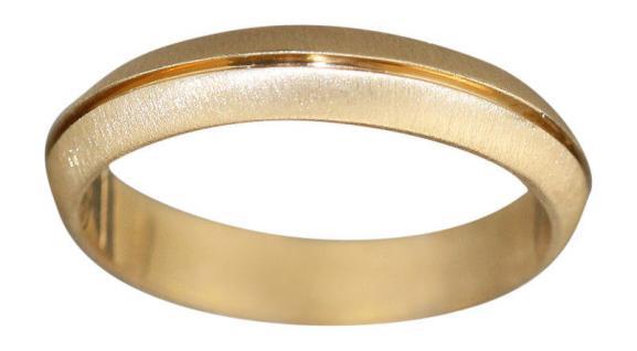 Goldring 585 Ehering Trauring massiver Bandring Gold Gelbgold oder Weißgold