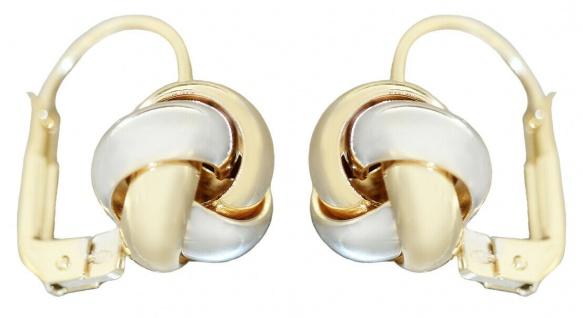 Ohrhänger Gold 585 bicolor Ohrschmuck Ohrringe Brisuren Damen 14 Karat