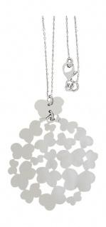 Silberkette und großer runder Anhänger 925 mit Schmetterling Kette echt Silber