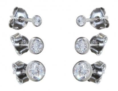 Kelch Ohrstecker Silber 925 Zirkonia Ohrschmuck rhodiniert verschiedene Größen