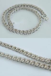 Weißgoldarmband 585 mit Brillanten 3, 0 ct. Armband Weißgold Tennisarmkette Gold