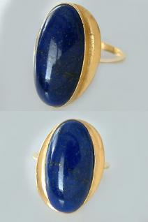 Großer Lapisring Goldring 750 mit Lapis Lazuli Ring Gold Damenring 18 kt