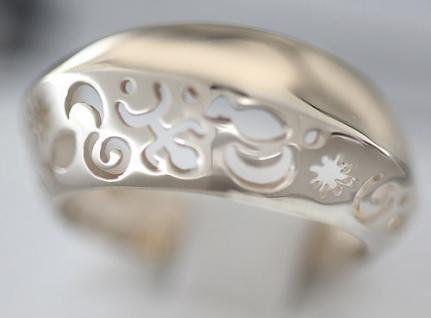 Exclusives Design Goldring 750 topmodischer Ring Gold 18 kt Damenring