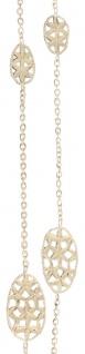60 cm lange Goldkette 750 / 18 Karat - ovale Glieder Halskette Gelbgold Collier