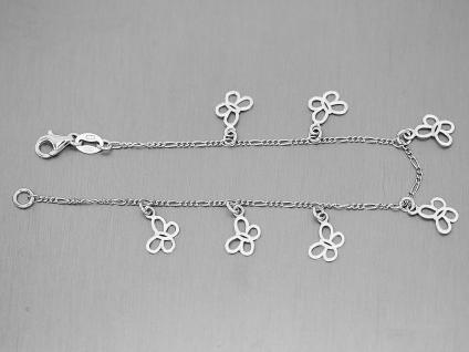 Armband Silber 925 mit Schmetterlingen Silberarmband Bettelarmband