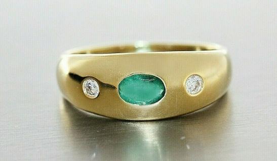 Goldring 585 Allianzring Smaragd und Brillanten 0, 10 ct Damen Ring RW 55 - Vorschau 2