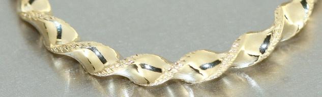 Creolen Gold 585 Ohrringe gedreht 14 Karat Damen Ohrschmuck 2, 6 cm - Vorschau 3