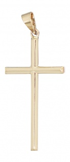Schlichtes Kreuz Gold 585 - Anhänger Goldkreuz - Goldanhänger Gelbgold 14 Karat