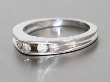 Ring Weißgold Weißgoldring 750 Brillant Damenring Gold Brillantring 0, 21 ct.
