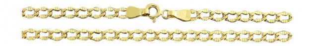 55 cm Panzerkette 585 Goldkette Halskette Kette Gold 14 kt Echtgoldkette