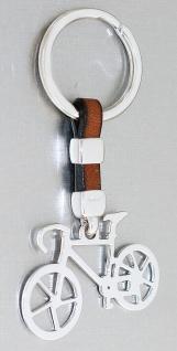 Schlüsselanhänger Silber 925 Fahrrad Anhänger massiv Bike Schlüsselring