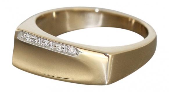 Goldring 585 mit Brillanten Ring Gelbgold Damenring RW 55 - Brillantring - 6 gr