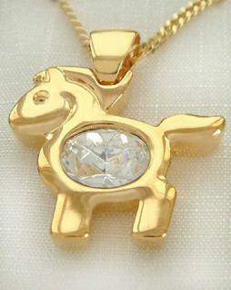 Goldkette und Anhänger Pferd Gold pl Panzerkette Gold pl Goldanhänger pl Kette