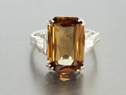 Ring Silber 800 Ring in Silber (800) mit 1 Schmuckstein rauchquartzfarben