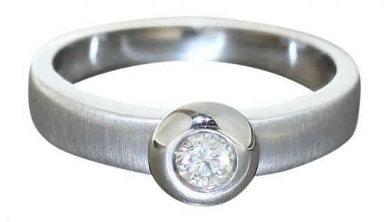 Brillantring 0, 20 ct. - Ring Weißgold 750 - Weißgoldring 18 kt Solitärring Gold