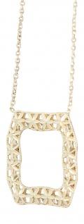 Collier Gold 750 Halskette mit Anhänger 18 Karat Goldkette massiv Karabiner