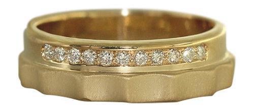Ring Gold 585 mit Brillanten Goldring Brillantring Ring 14 Karat massiv Bandring