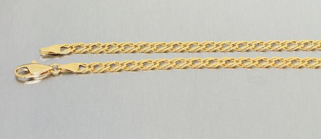 Kette Gold 585, Halskette Gold 14 KT, Kette, Goldkette 50 cm lang