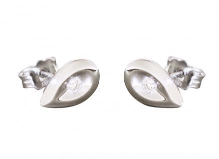 Ohrstecker Weißgold 750 Brillant Ohrschmuck Tropfenform Ohrringe Damen