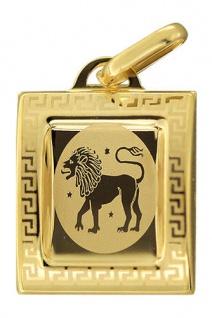 Sternzeichen Löwe Gold 585 Anhänger 14 Karat Kettenanhänger Gelbgold