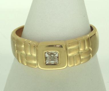 Hochwertiger Goldring 750 - Ring Gold 18 kt mit Zirkonia Carree - Damenring
