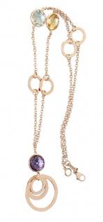 Rosegold 585 Edelstein Collier Goldkette Collier Edelsteinkette Halskette 14 kt