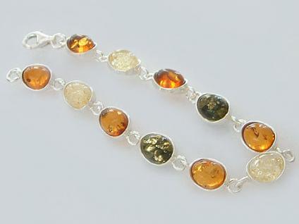 Tolles Armband Silber 925 Bernsteinarmband Silberarmband Silberarmkette Armkette