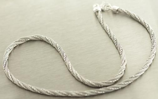 Tolles Collier Silber 925 Silberkette runde Kette Sterlingsilber Halskette