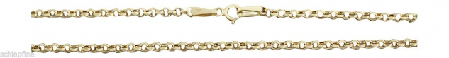 45 cm funkelnde Erbskette - Kette Gold 585 - Halskette Goldkette 14 kt - Collier