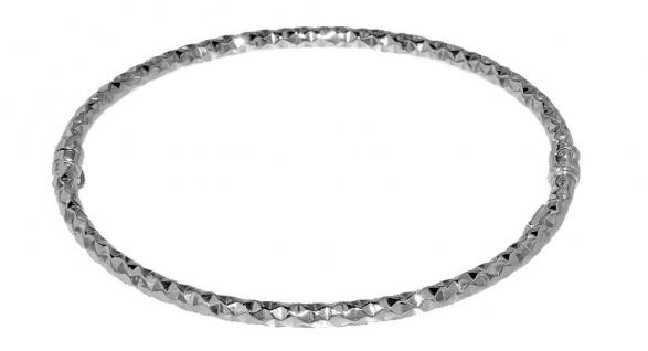 Armreif Silber 925 Armspange mit Struktur Armband Damen Schmuck echt Silber