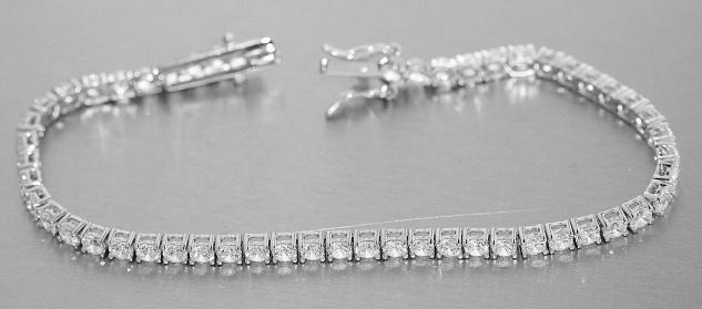 Tennisarmband Silber 925 Zirkonias Armband 3 mm Damen Armschmuck 18 / 17 cm