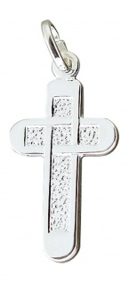 Massives Silberkreuz 925 Anhänger Kreuz echt Silber Silberanhänger massiv
