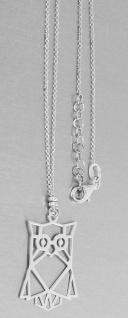 Silberkette und Anhänger Eule Sterlingsilber 925 Halskette echt Silber
