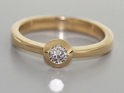 Brillantring 0, 20 ct. - Solitärring Brillant klassischer Goldring 585 Ring Gold 2