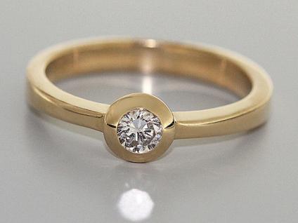 Brillantring 0, 20 ct. Solitärring Brillant klassischer Goldring 585 Ring Gold - Vorschau 2