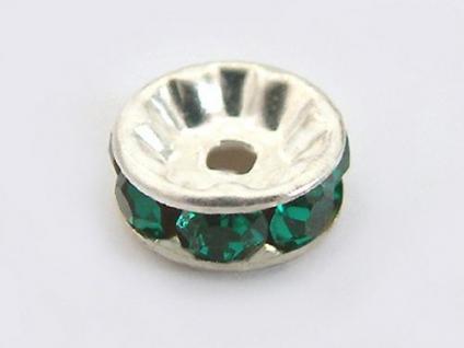 10 Stück grüne Dekorteile für Perlen- oder Kugelketten
