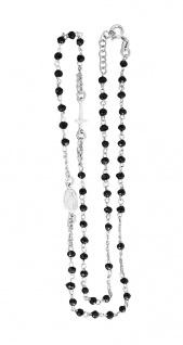 Rosenkranz Kette od Armband Silber 925 schwarz od Hämatit Kreuz u. Hl. Maria