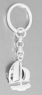 Schlüsselanhänger Silber 925 Segelboot Anhänger massiv Schlüsselring