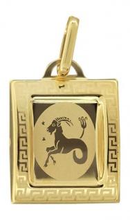 Sternzeichen Steinbock Gold 585 Anhänger 14 Karat Kettenanhänger Gelbgold
