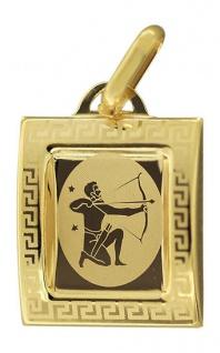 Sternzeichen Schütze - Anhänger Gold 333 - Goldanhänger - Goldschütze 8 kt