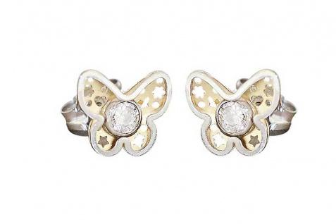 Kinder Ohrstecker Gold 585 Ohrringe 14 Karat Herz Blume Schmetterling Teddy