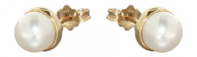 Ohrstecker Gold 585 mit Perle Koralle Lapis Lazuli Kugel Goldohrstecker 14 kt