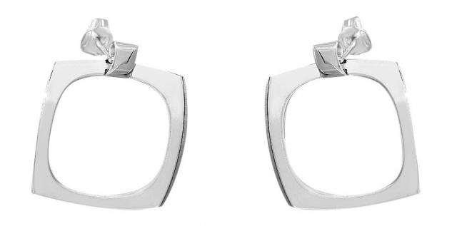 Ohrstecker Silber 925 Quadrat Ohrringe Designer Ohrschmuck Sterlingsilber