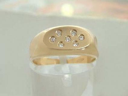 Brillantring Goldring 585 massiv edler Ring Gold mit 7 Brillanten